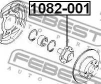 Febest 1082001 - Ступица колеса autodif.ru