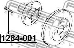Febest 1284-001 - Болт крепления колеса autodif.ru
