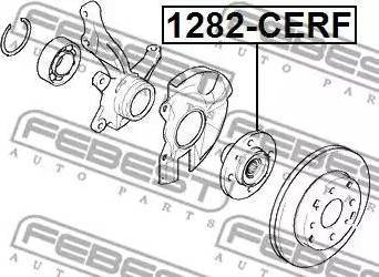 Febest 1282CERF - Ступица колеса autodif.ru