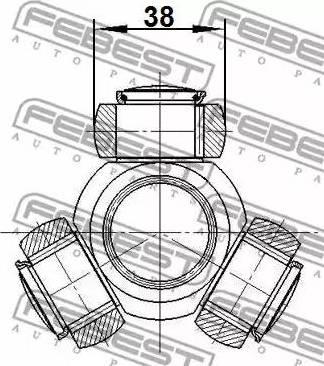 Febest 2116-CA1R - Муфта с шипами, приводной вал autodif.ru