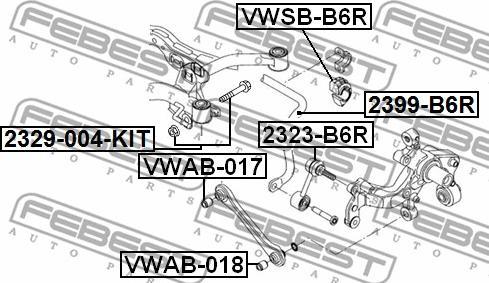 Febest 2329-004-KIT - Болт регулировки развала колёс autodif.ru