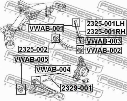 Febest 2329001 - Болт регулировки развала колёс autodif.ru