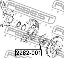 Febest 2282001 - Ступица колеса autodif.ru