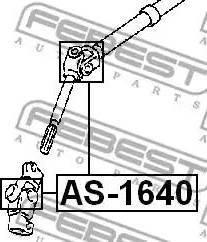 Febest AS1640 - Шарнир, вал сошки рулевого управления autodif.ru