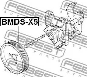 Febest BMDSX5 - Ременный шкив, насос гидроусилителя autodif.ru