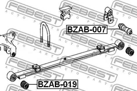 Febest BZAB-007 - Втулка, листовая рессора autodif.ru