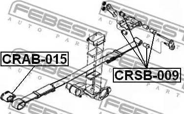 Febest CRSB009 - Втулка, листовая рессора autodif.ru