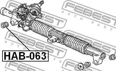 Febest HAB-063 - Подвеска, рулевое управление autodif.ru