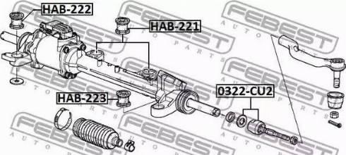 Febest HAB221 - Подвеска, рулевое управление autodif.ru