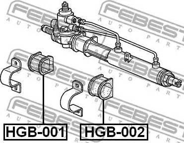 Febest HGB-001 - Подвеска, рулевое управление autodif.ru
