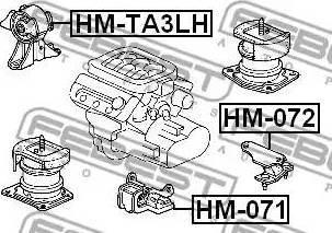 Febest HM071 - Подвеска, автоматическая коробка передач autodif.ru