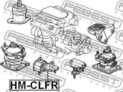 Febest HMCLFR - Подвеска, автоматическая коробка передач autodif.ru