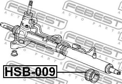 Febest HSB009 - Подвеска, рулевое управление autodif.ru
