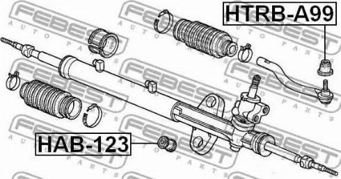 Febest HTRBA99 - Ремкомплект, наконечник поперечной рулевой тяги autodif.ru