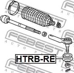 Febest HTRBRE - Ремкомплект, наконечник поперечной рулевой тяги autodif.ru