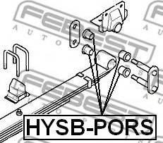 Febest HYSB-PORS - Втулка, листовая рессора autodif.ru