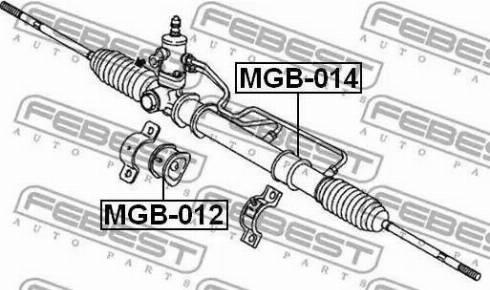 Febest MGB014 - Подвеска, рулевое управление autodif.ru