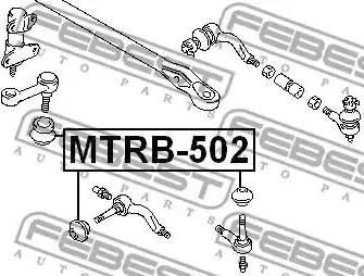 Febest MTRB502 - Ремкомплект, наконечник поперечной рулевой тяги autodif.ru