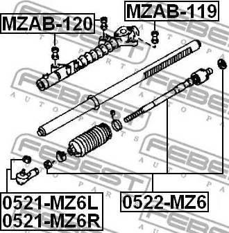 Febest MZAB120 - Подвеска, рулевое управление autodif.ru