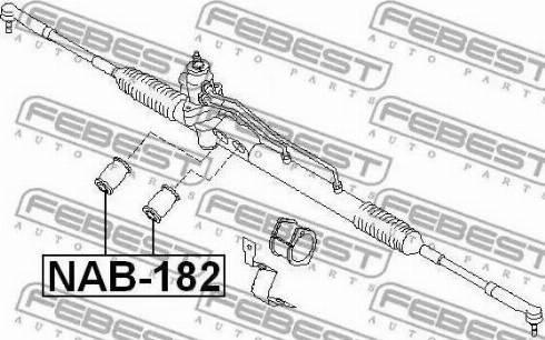 Febest NAB182 - Подвеска, рулевое управление autodif.ru