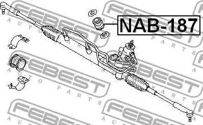Febest NAB187 - Подвеска, рулевое управление autodif.ru