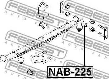 Febest NAB225 - Втулка, листовая рессора autodif.ru