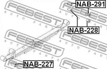 Febest NAB228 - Втулка, листовая рессора autodif.ru