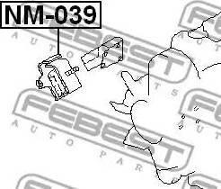 Febest NM-039 - Подвеска, двигатель autodif.ru