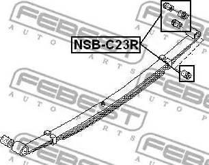 Febest NSB-C23R - Втулка, листовая рессора autodif.ru