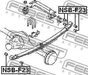 Febest NSBF23 - Втулка, листовая рессора autodif.ru