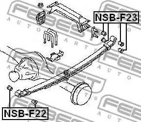 Febest NSBF22 - Втулка, листовая рессора autodif.ru