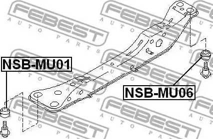 Febest NSBMU06 - Втулка, балка моста autodif.ru