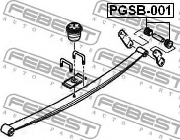 Febest PGSB-001 - Втулка, листовая рессора autodif.ru