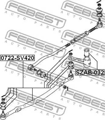 Febest SZAB032 - Втулка, вал рулевого колеса autodif.ru
