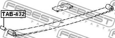 Febest TAB-432 - Втулка, листовая рессора autodif.ru