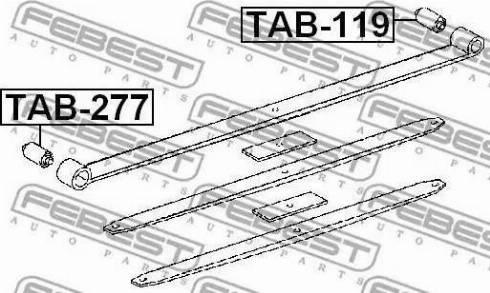 Febest TAB-119 - Втулка, листовая рессора autodif.ru