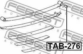 Febest TAB276 - Втулка, листовая рессора autodif.ru
