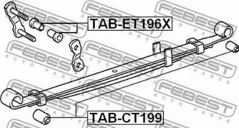 Febest TABCT199 - Втулка, листовая рессора autodif.ru