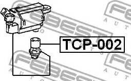 Febest TCP002 - Вилка, катушка зажигания autodif.ru