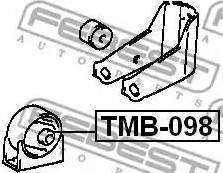 Febest TMB098 - Подвеска, двигатель autodif.ru
