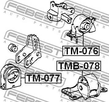 Febest TMB078 - Подвеска, двигатель autodif.ru