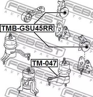 Febest TMBGSU45RR - Подвеска, двигатель autodif.ru