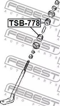Febest TSB-778 - Втулка, листовая рессора autodif.ru