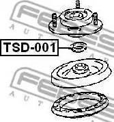 Febest TSD-001 - Подвеска, амортизатор autodif.ru