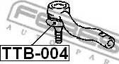 Febest TTB004 - Ремкомплект, наконечник поперечной рулевой тяги autodif.ru