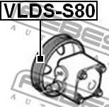 Febest VLDSS80 - Ременный шкив, насос гидроусилителя autodif.ru