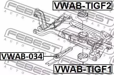 Febest VWAB034 - Подвеска, двигатель autodif.ru