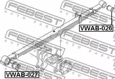 Febest VWAB-026 - Втулка, листовая рессора autodif.ru