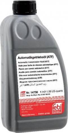Febi Bilstein 14738 - Масло автоматической коробки передач autodif.ru