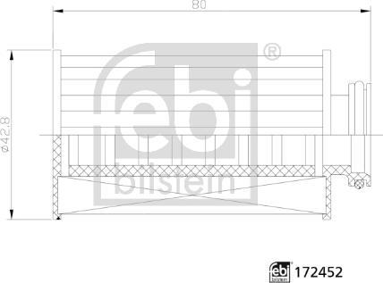 Febi Bilstein 172452 - Карбамидный фильтр autodif.ru
